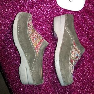 Shoes - DANSKO Suede Clogs Size 7 EU 37